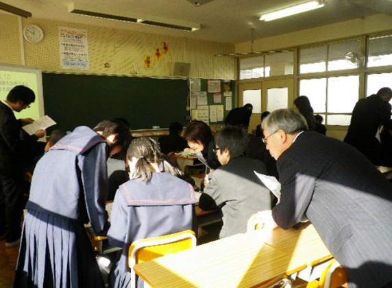 佐賀県 多久市立西渓中学校 視察