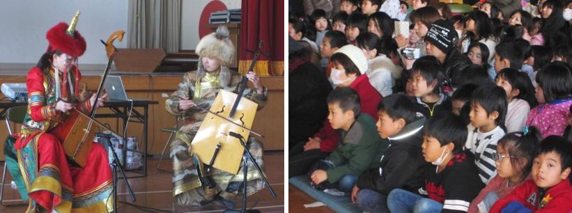 2学年親子ふれあい活動-馬頭琴の演奏を聞こう-