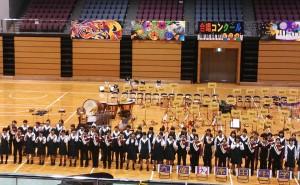 合唱コンクールアトラクション(九州産業高校マーチングバンド演奏)